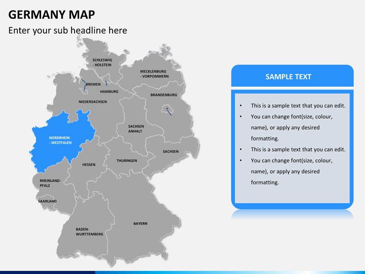 Powerpoint Germany Map Sketchbubble