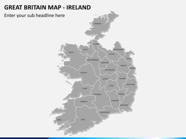Great Britain UK Map PowerPoint SketchBubble