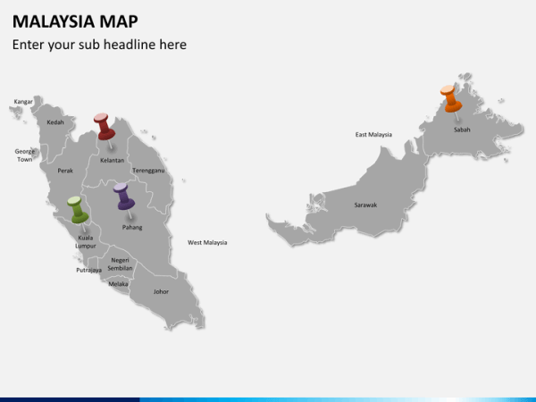 Malaysia Map PowerPoint SketchBubble