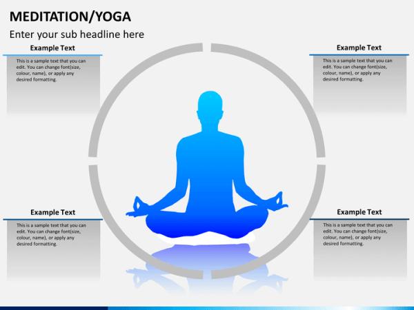 MeditationYoga PowerPoint Template SketchBubble