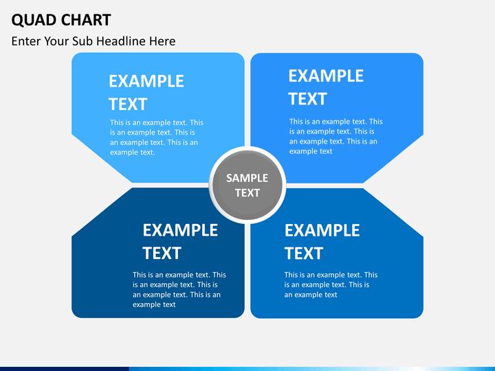 Quad Chart PowerPoint Template SketchBubble