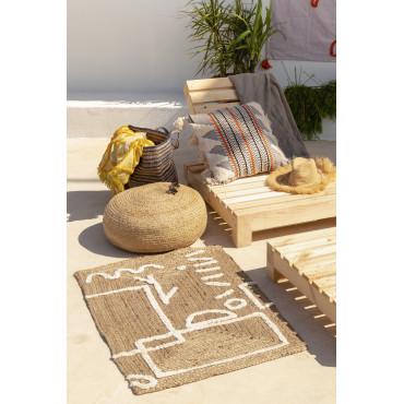 tapis en jute et coton 110x70 cm dudle