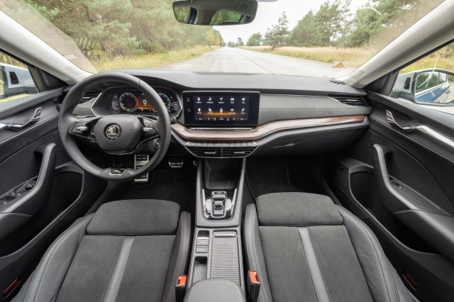 The Simply Clever interior of the new Skoda Octavia Scout.