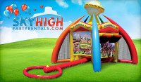 Inflatable sports game Houston | Sky High Party Rentals