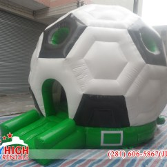 Inflatable Soccer Ball Chair Tablecloths And Covers For Rent Shaped Bouncy Castle Sky High Party Rentals