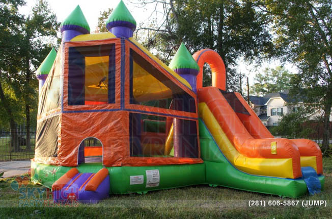3in1 bounce house  Sky High Party Rentals
