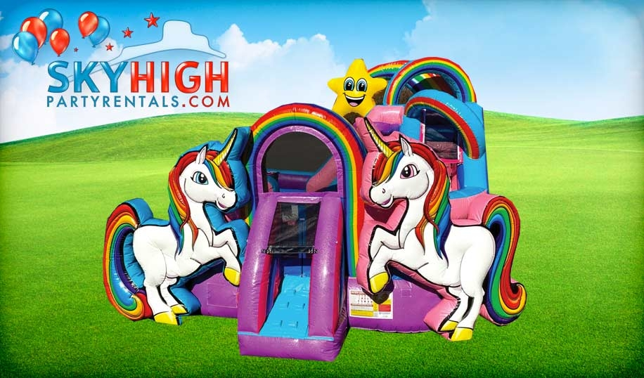 Unicorn Playzone Slide  Sky High Party Rentals