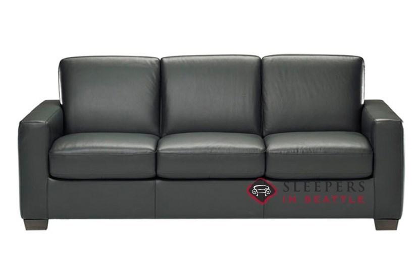 galileo cream microfiber queen sleeper sofa sofas dark grey beds by natuzzi editions rubicon b534 leather with greenplus foam mattress in denver black