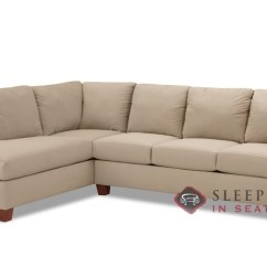 Sienna Sofa Wooden Furniture Bangalore Quick Ship Chaise Sectional Fabric By Savvy Fast Sleeper In Microsuede Khaki Queen