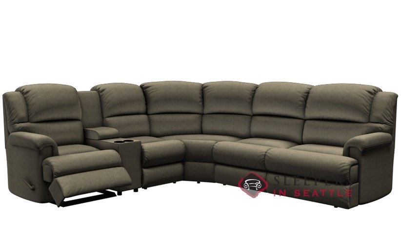 palliser harlow large reclining true sectional full sleeper sofa with console power upgrade available