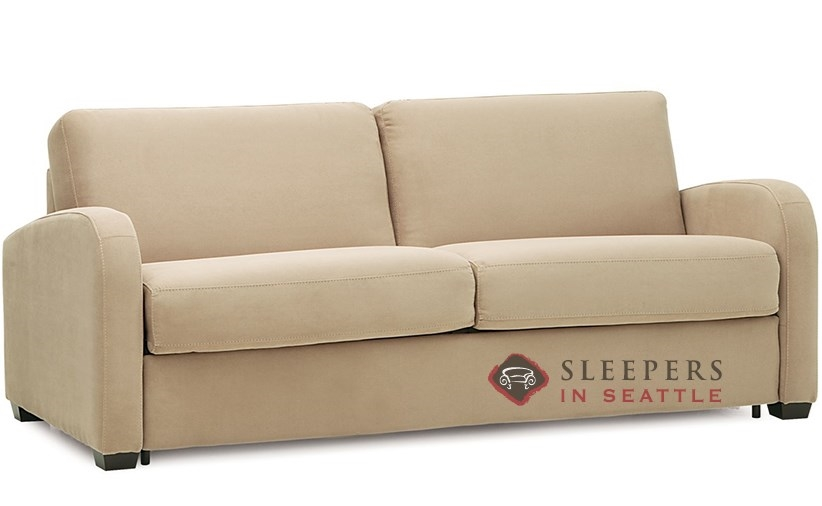 sleeper sofa queen mattress how do i take apart a bed customize and personalize daydream fabric by palliser my comfort 2 cushion