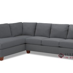 Sienna Sofa Fabric Repair Kit Quick Ship Chaise Sectional By Savvy Fast Sleeper In Microsuede Charcoal Queen