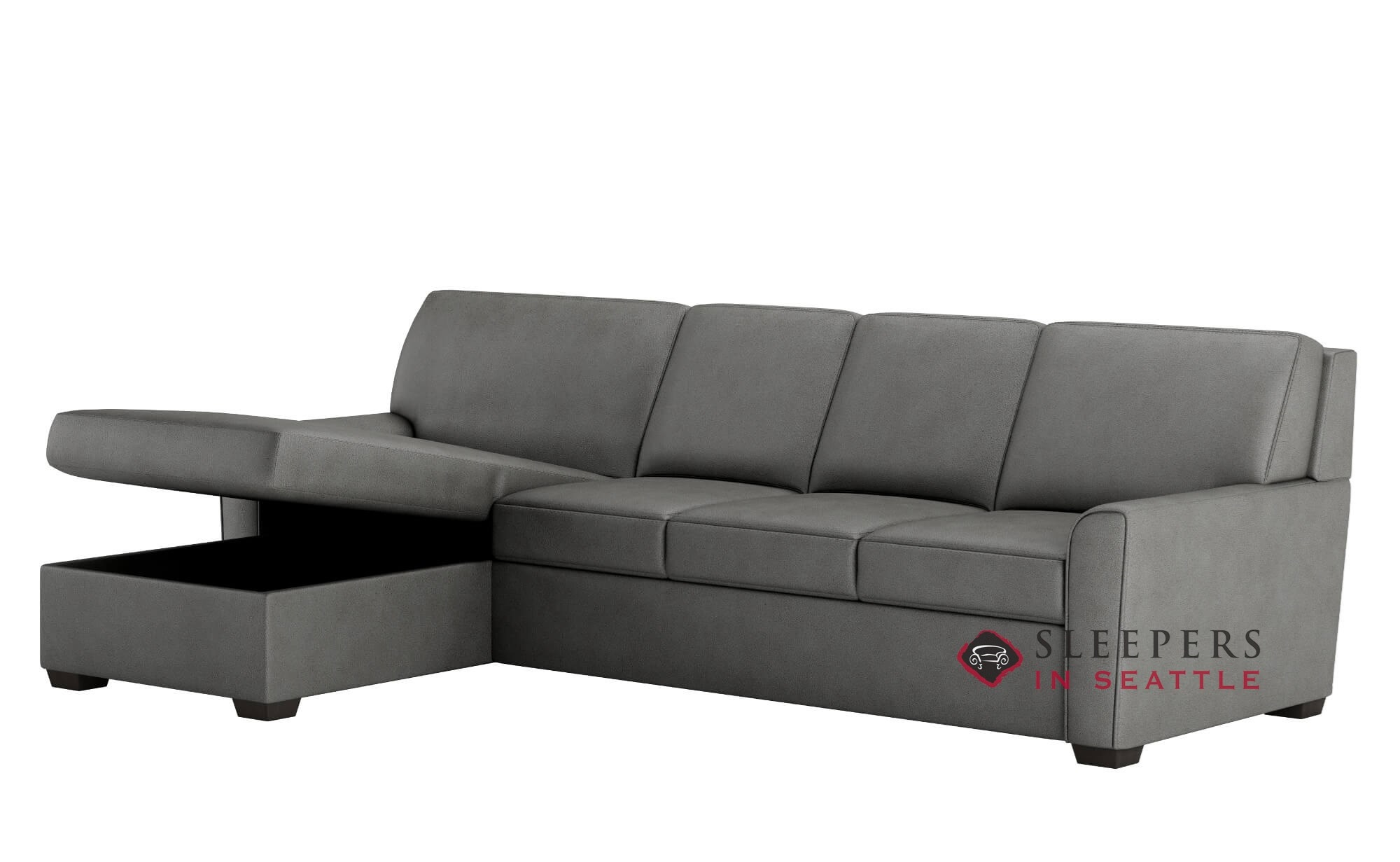american leather sleep sofa montreal ash black faux linen oversized sectional customize and personalize klein multiple sizes available