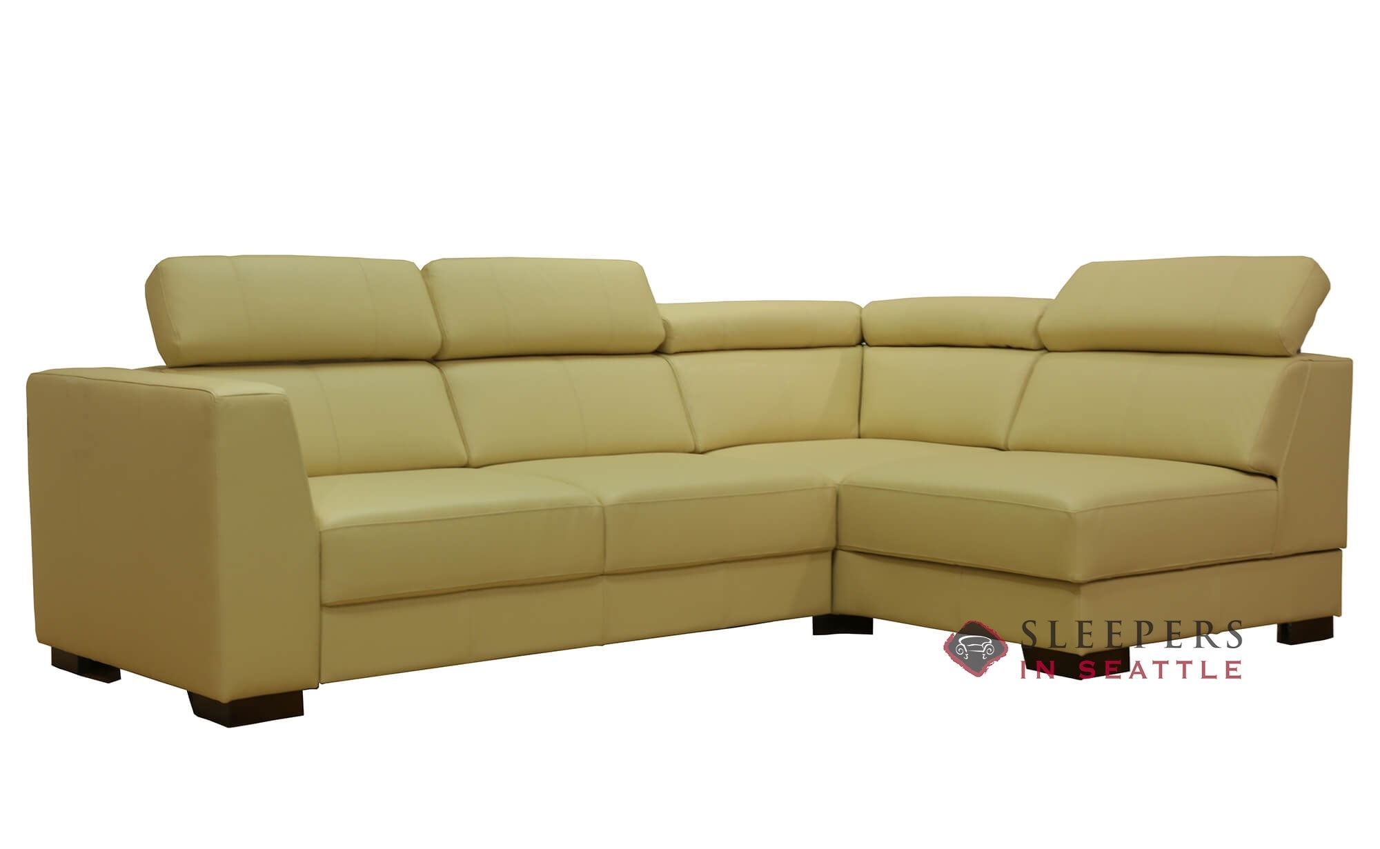Luonto Halti Leather True Sectional Full Sleeper Sofa