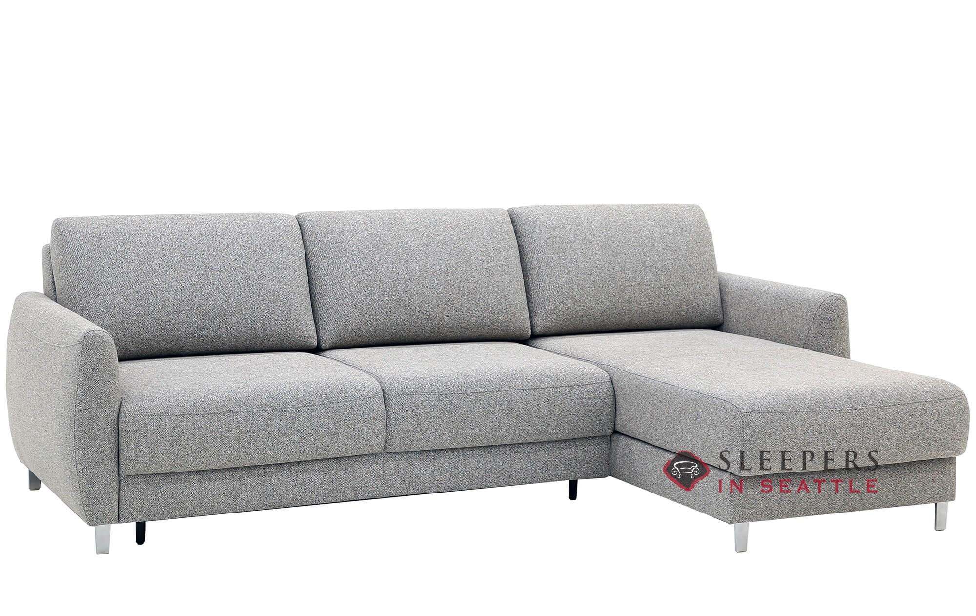 Luonto Delta Loveseat Chaise Sectional Full Sleeper Sofa In Rene 03
