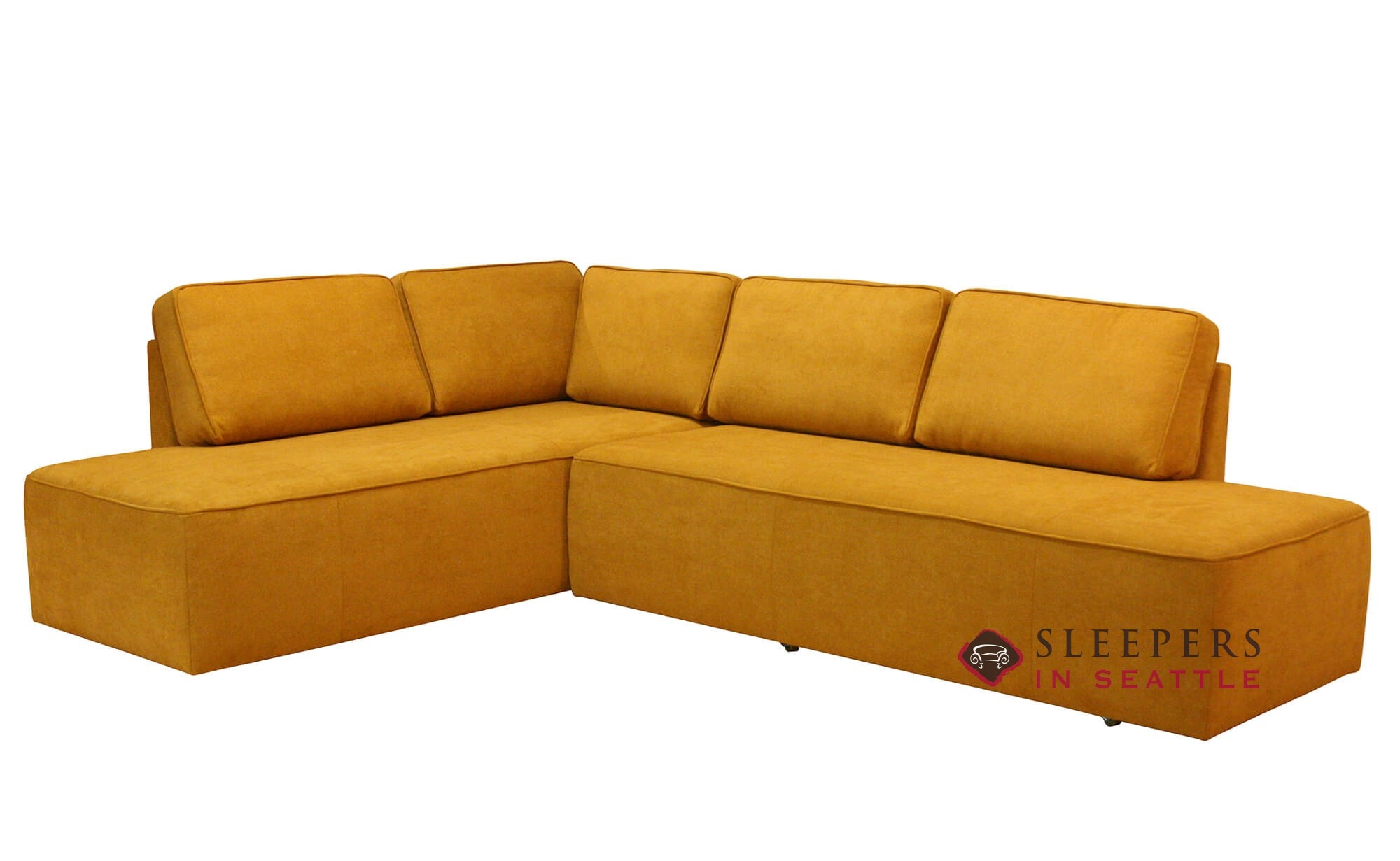 Luonto New York Chaise Sectional Queen Leather Sleeper Sofa With Storage