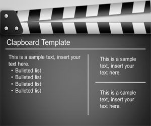 Free Clapboard PowerPoint Template Free PowerPoint Templates