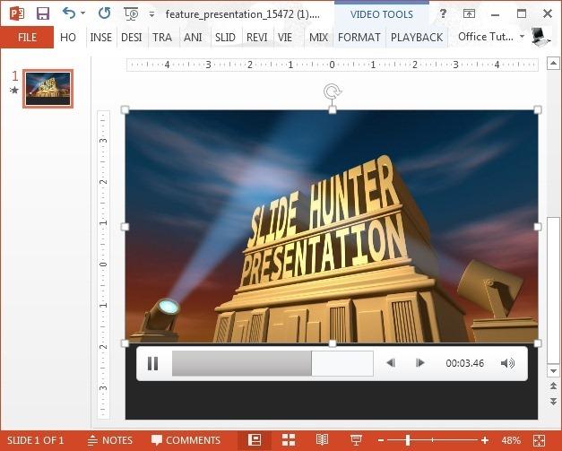 animated spotlight powerpoint template