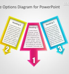 three options diagram for powerpoint presentations [ 1279 x 959 Pixel ]