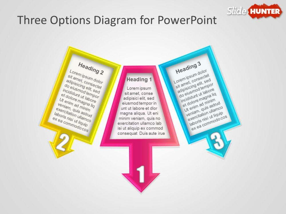 medium resolution of three options diagram for powerpoint presentations
