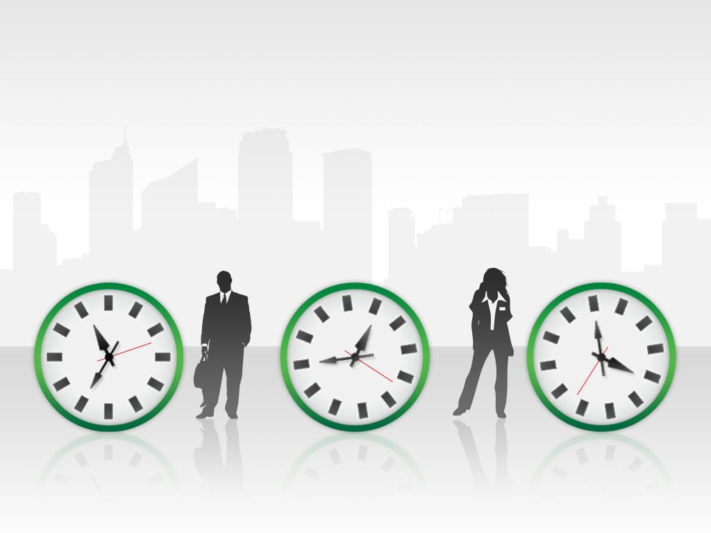 Free Time Management Green PowerPoint Template - Free PowerPoint Templates - SlideHunter.com