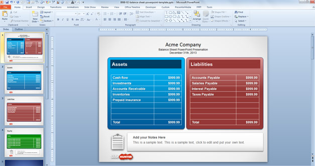 Free Balance Sheet PowerPoint Template - Free PowerPoint Templates ...