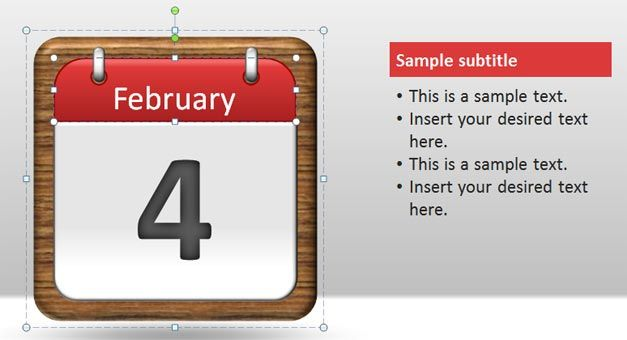 Free Calendar Pages PowerPoint Template - Free PowerPoint Templates ...