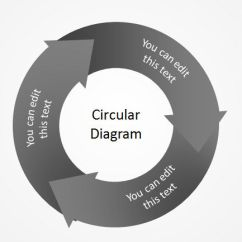 3 Arrow Circle Diagram Advanced Origami Free Circular Templates For Powerpoint Steps