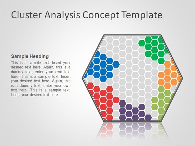 Free Cluster Analysis Concept PowerPoint Template