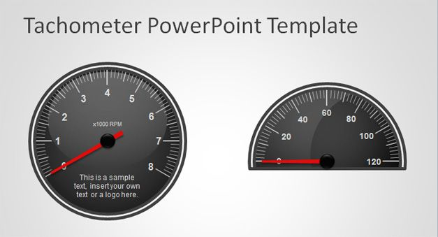 Free Tachometer PowerPoint Template