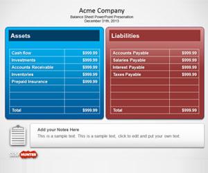 Free Balance Sheet PowerPoint Template Free PowerPoint Templates