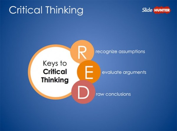 Free Pearson39s Red Critical Thinking PowerPoint Diagram