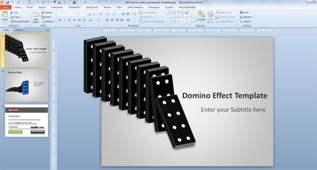 Free Domino Effect PowerPoint Template