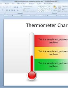 Free thermometer chart powerpoint template templates slidehunter also rh