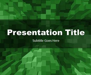 Free Stacked Boxes Green PowerPoint Template Free