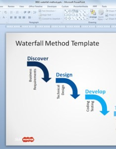 Waterfall model for powerpoint also free diagram templates rh slidehunter