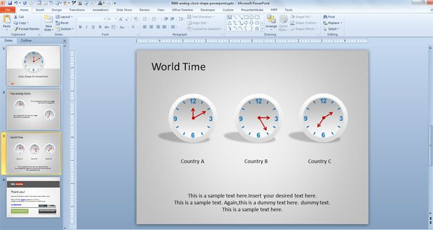 Free Clock Shape for PowerPoint  Free PowerPoint