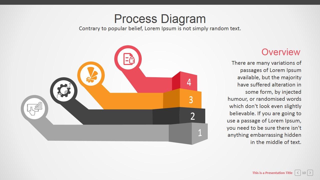 process flow diagram shapes vole skeleton four steps corporate powerpoint - slidemodel