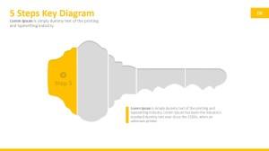 5 Steps Key PowerPoint Diagram  SlideModel