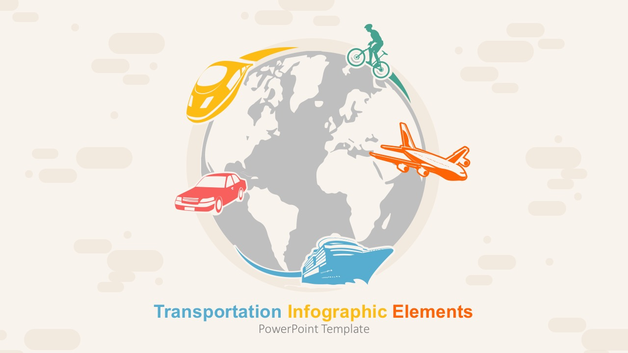 Transportation Infographic Elements Powerpoint Template