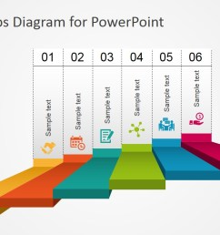 powerpoint 6 steps stairs diagram  [ 1280 x 720 Pixel ]