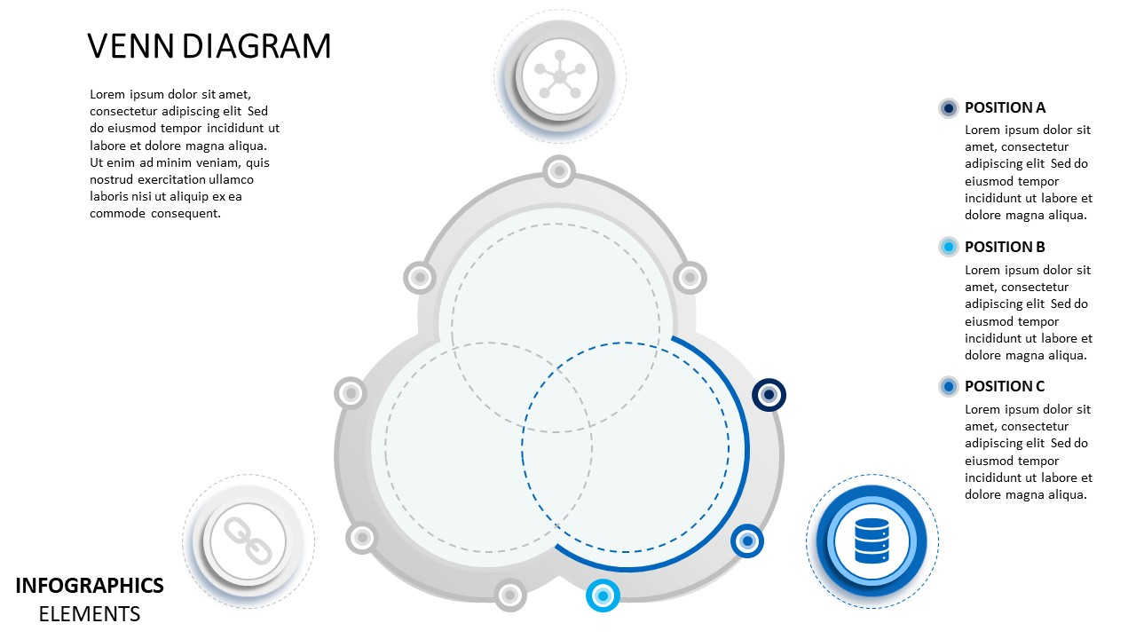 hight resolution of  template of material design venn diagram