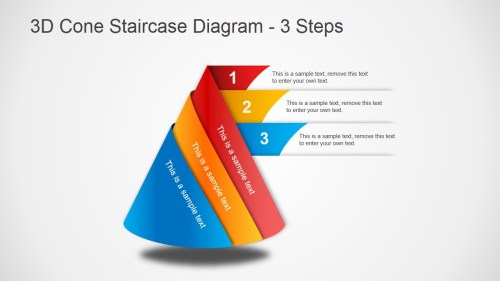 small resolution of 3d cone staircase diagram for powerpoint slidemodel rh slidemodel com sideways cone diagram pyramid diagram