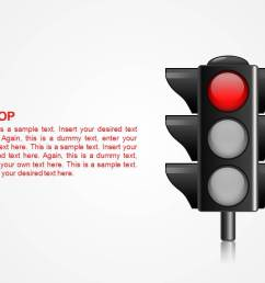traffic lights shape for powerpoint traffic light illustration with red light on  [ 1279 x 720 Pixel ]
