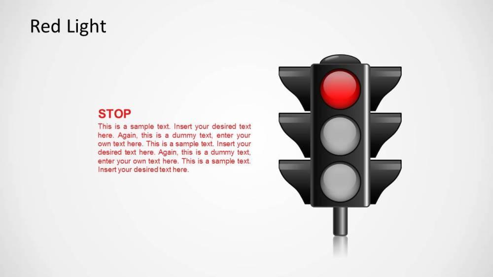 medium resolution of traffic lights shape for powerpoint traffic light illustration with red light on