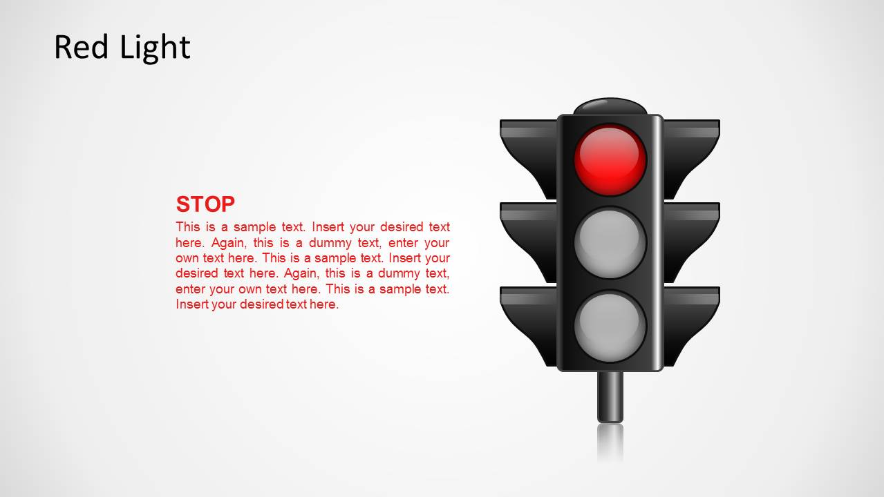 hight resolution of traffic lights shape for powerpoint traffic light illustration with red light on
