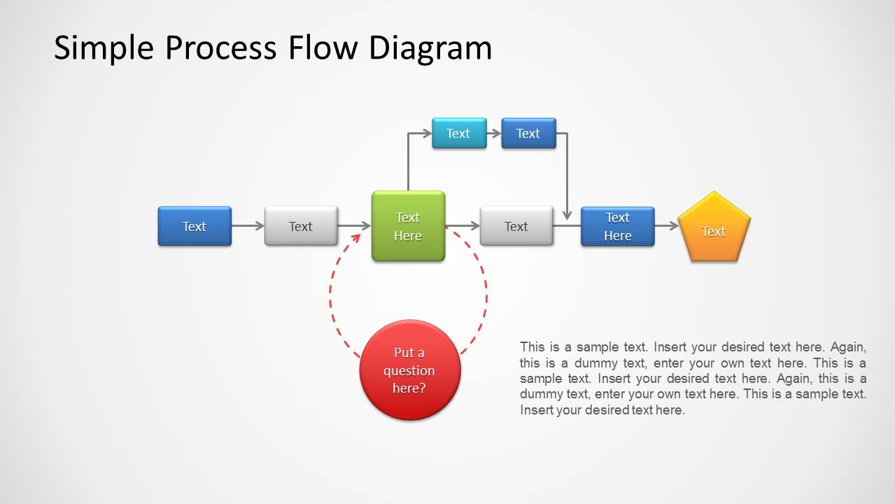 hight resolution of process flow diagram for powerpoint