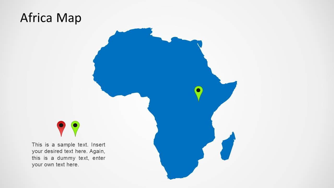 Africa Map For PowerPoint SlideModel