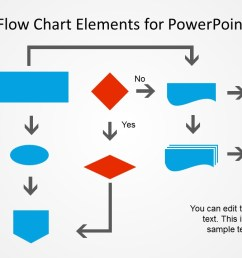 metro flat flow chart example slide for powerpoint  [ 1280 x 720 Pixel ]
