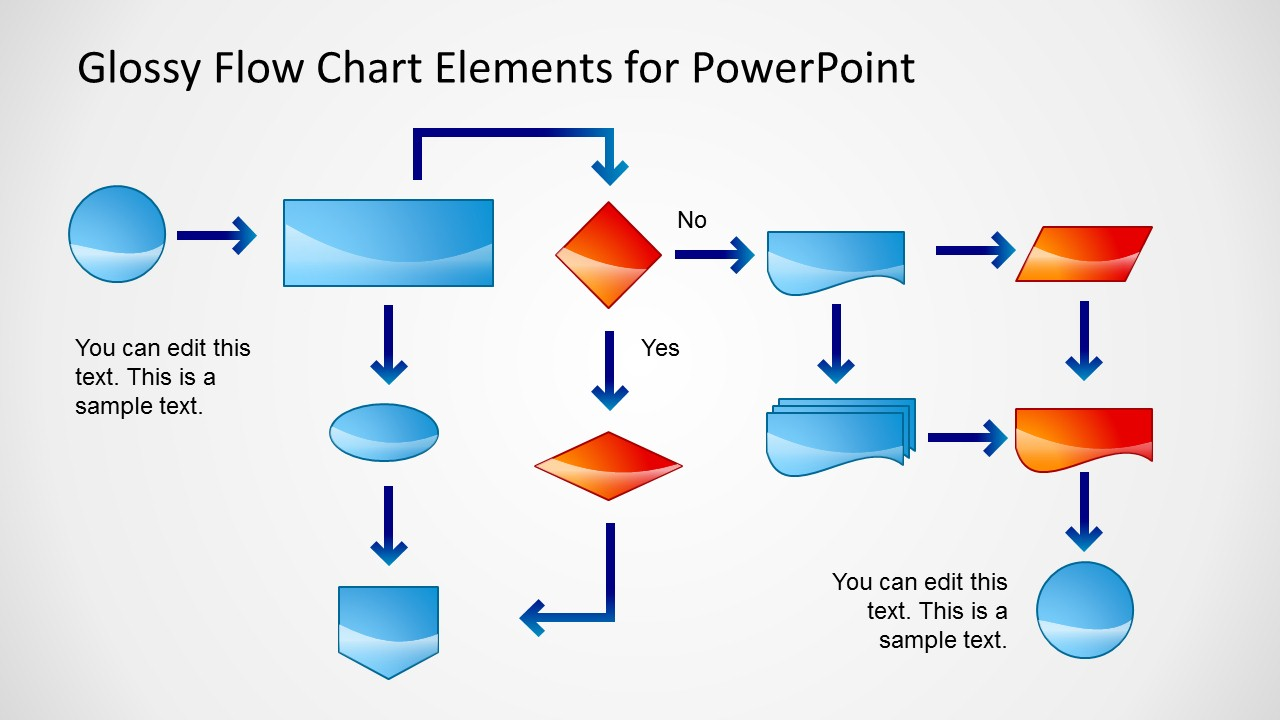 hight resolution of flow chart powerpoint slide glossy style